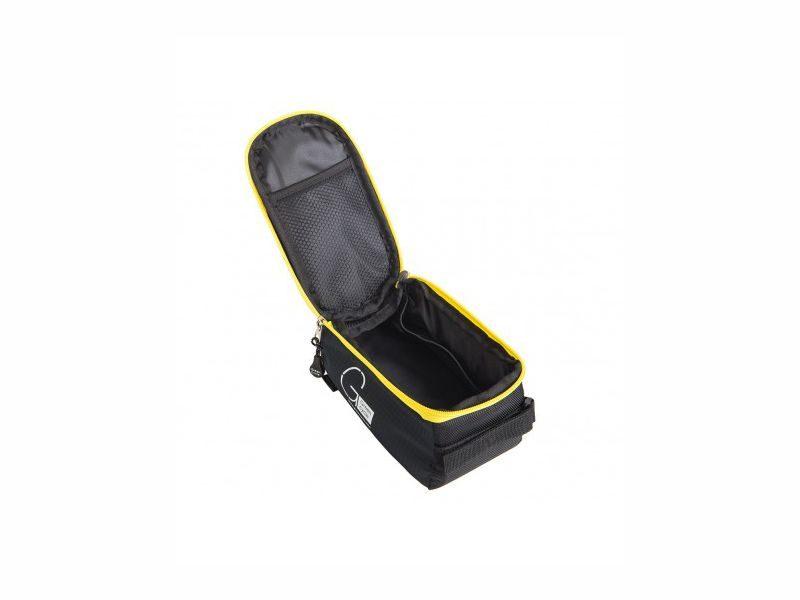 Сумка нарамная Green Cycle Smart 5201 черно-желтая вид внутри