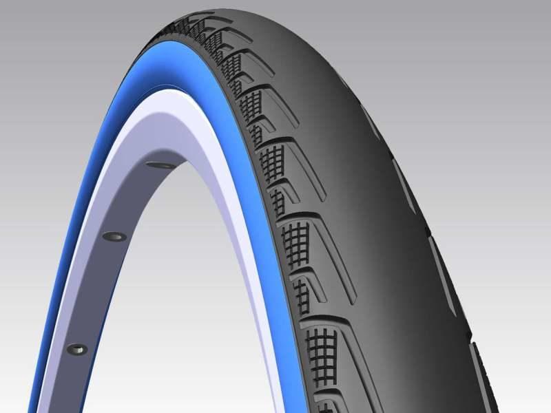 Покрышка 700x23C Mitas SYRINX V80 Classic Black Blue