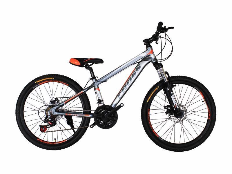 Велосипед Cross Hunter 24 серо оранжевый