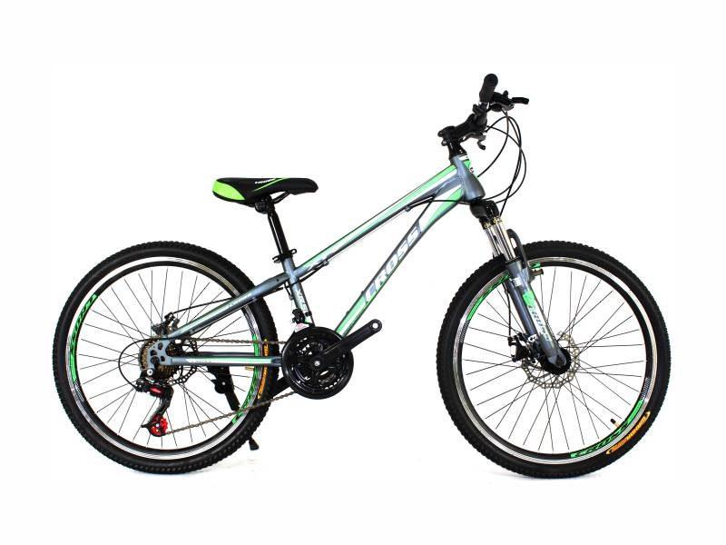Велосипед Cross Hunter 26 черный с зелено белыми
