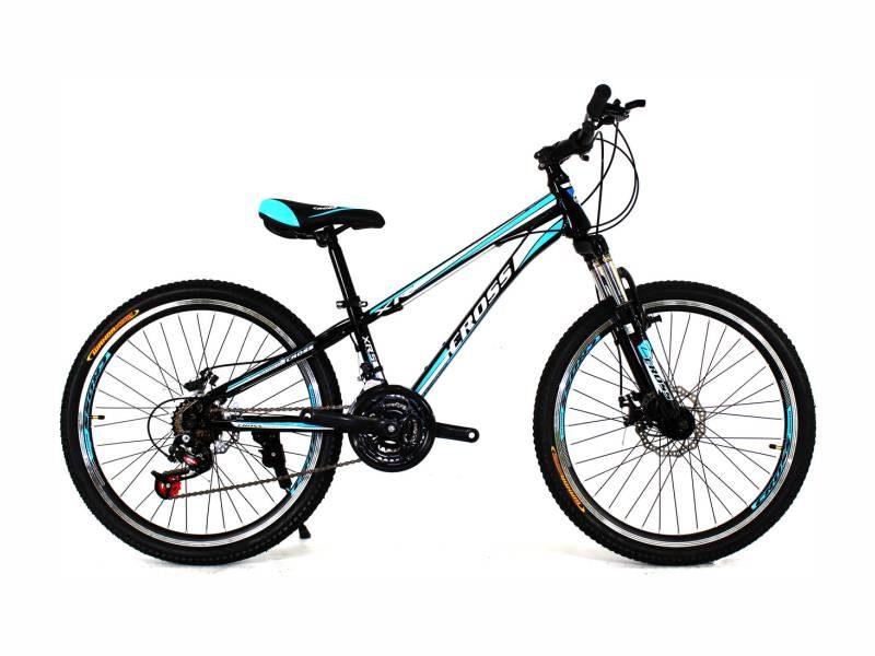 Велосипед Cross Racer 24 Black-Blue-White