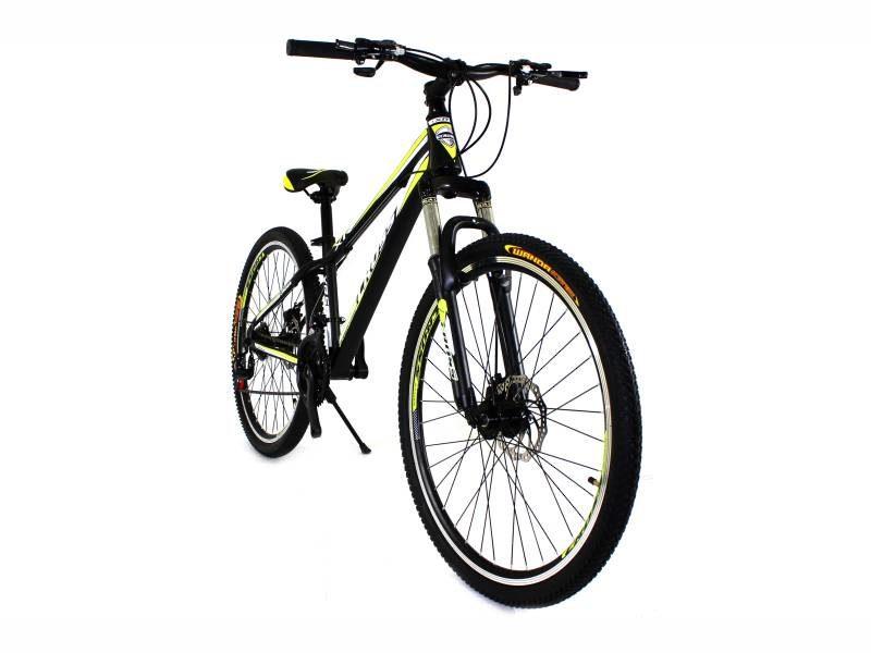 Велосипед Cross Racer 26 Black-Lightgreen-White