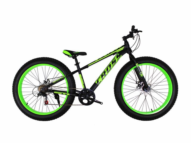 Велосипед Cross Tank 26 черно-зеленый