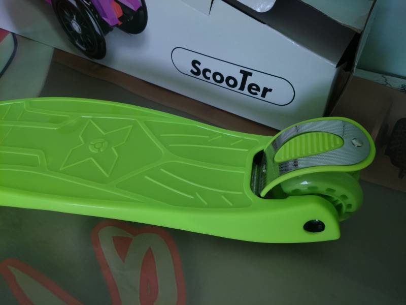 Самокат Maxi Scooter KS022 green ножной тормоз