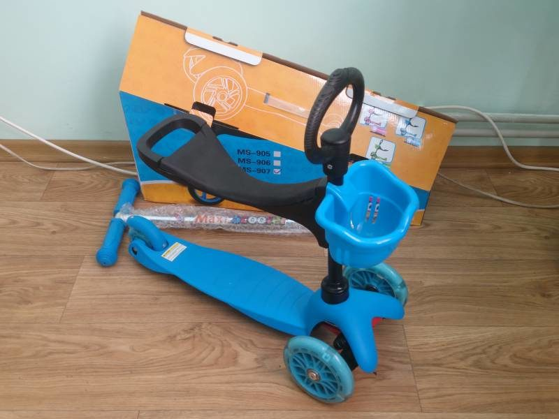Самокат Maxi Scooter MS-907 blue беговел