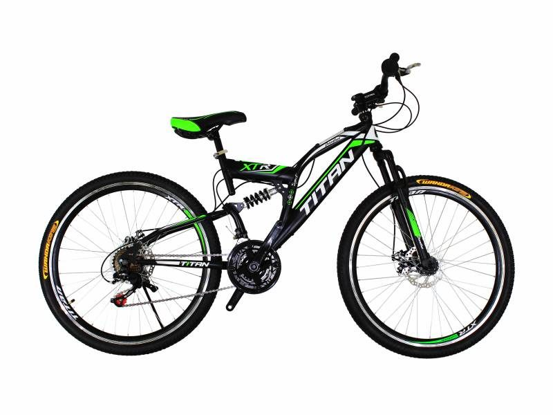 Велосипед Titan Panther 26 Black-Green-White