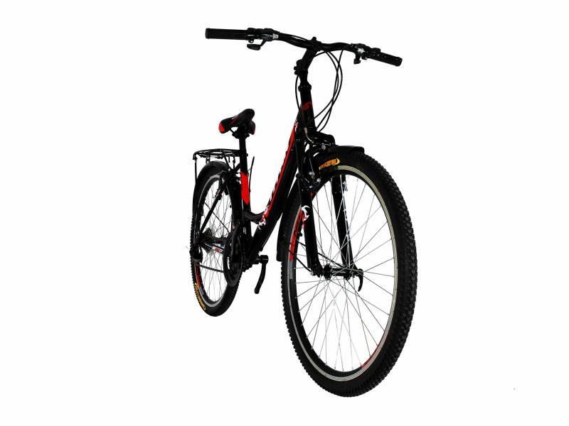 Велосипед Titan Elite 26 черный с красно белыми вставками
