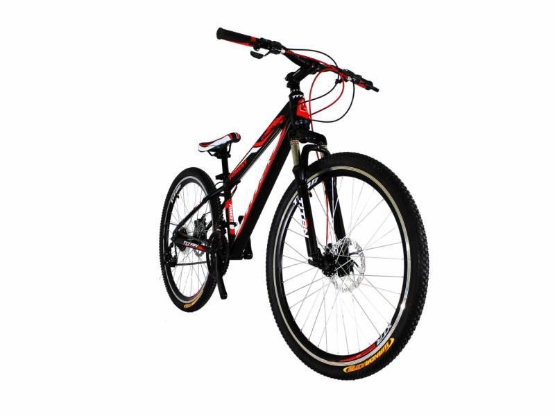 Велосипед Titan Forest 26 Black-Red-White