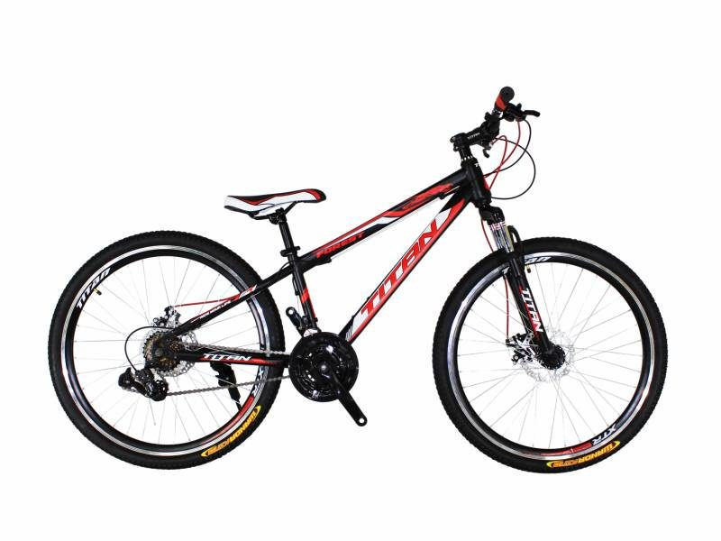 Велосипед Titan Forest 26 черный с бело красными вставками