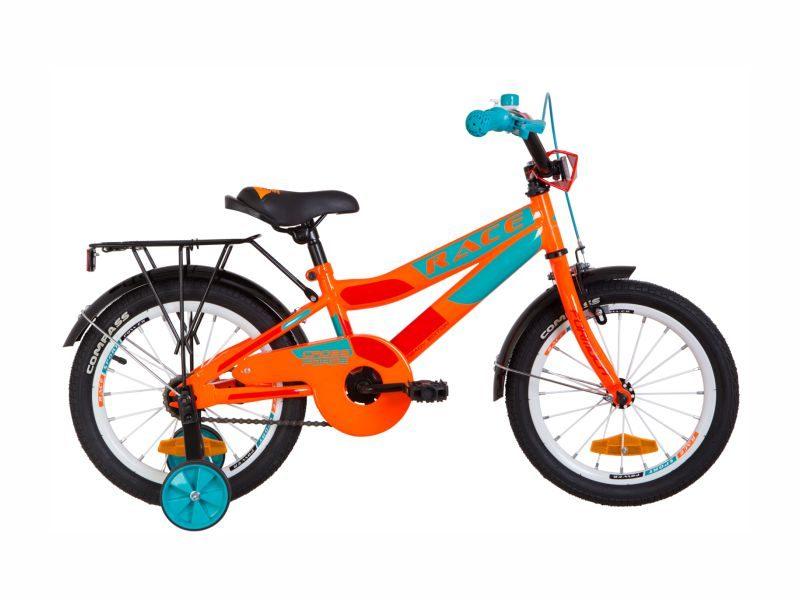 Велосипед Formula Race 16 с багажником orange-turquoise