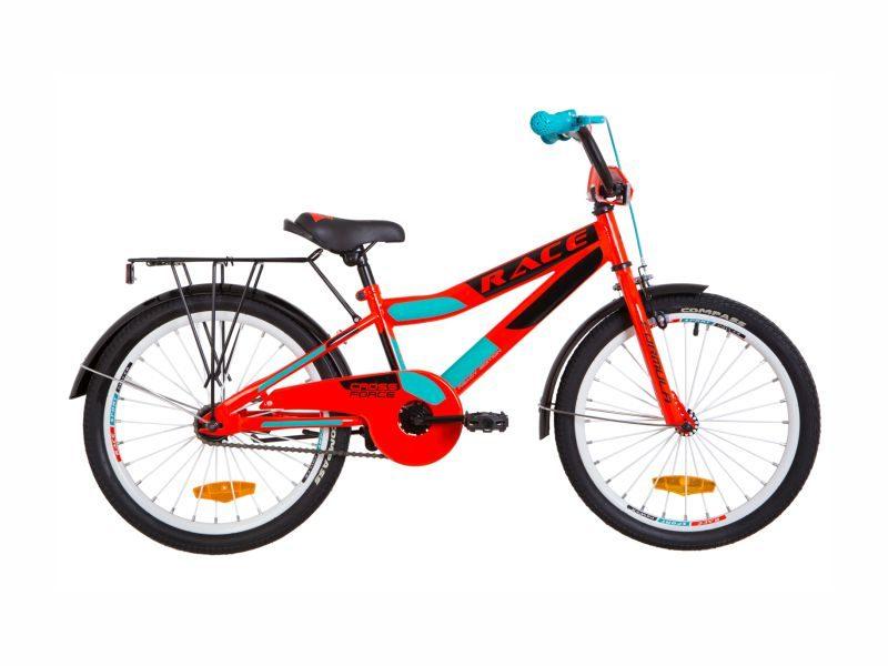 Велосипед Formula Race 20 с багажником red-turquoise