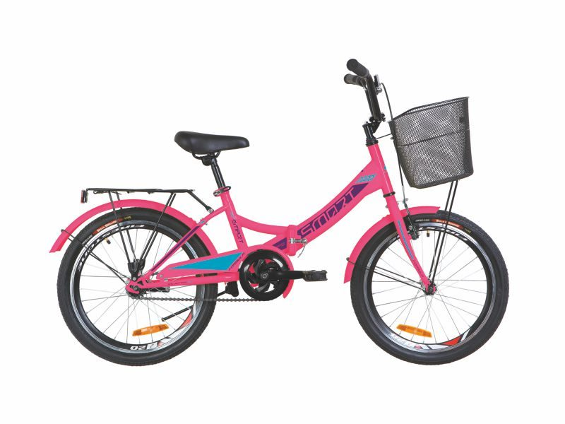 Велосипед Formula Smart 20 корзина pink