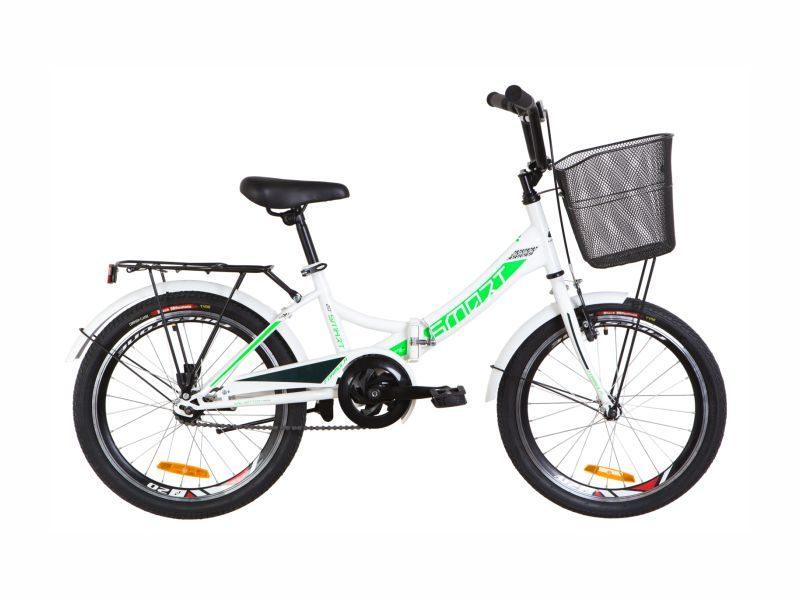 Велосипед Formula Smart 20 корзина white-green