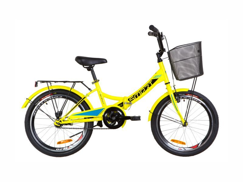 Велосипед Formula Smart 20 корзина yellow