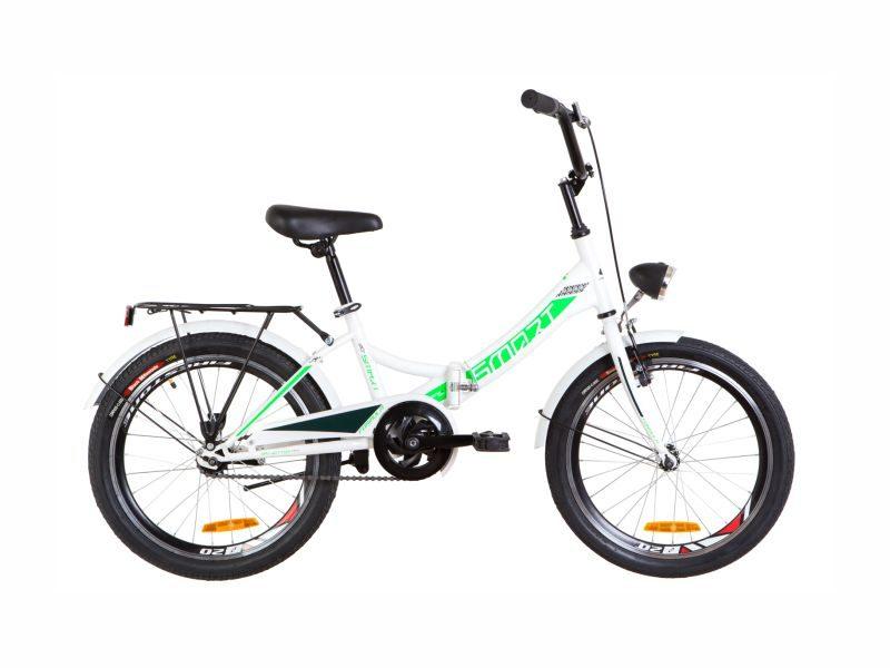 Велосипед Formula Smart 20 с фонарем white-green
