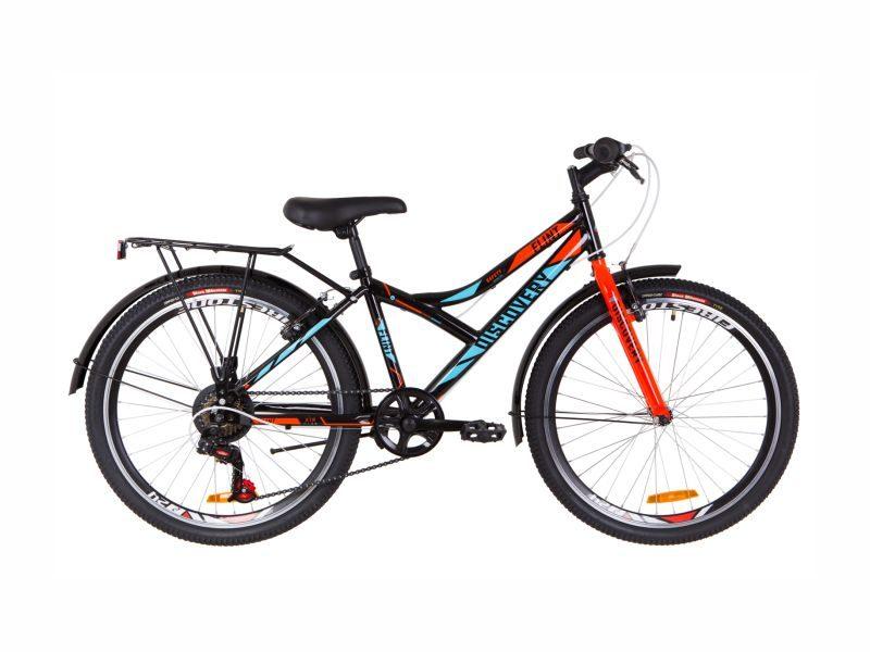 Велосипед Discovery Flint Vbr 24 багажник black-blue
