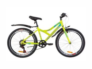 Велосипед Discovery Flint Vbr 24 lime-blue
