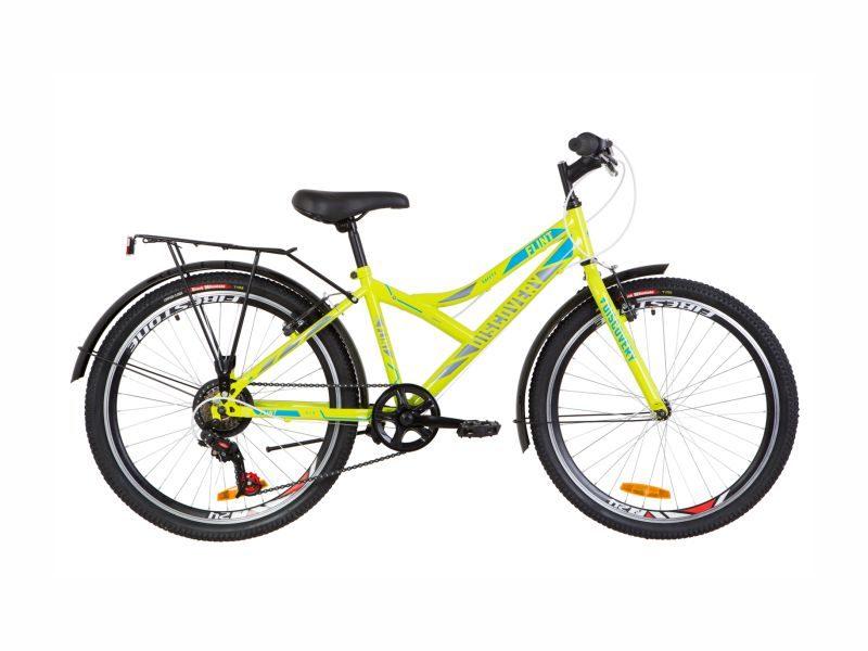 Велосипед Discovery Flint Vbr 24 багажник lime-blue