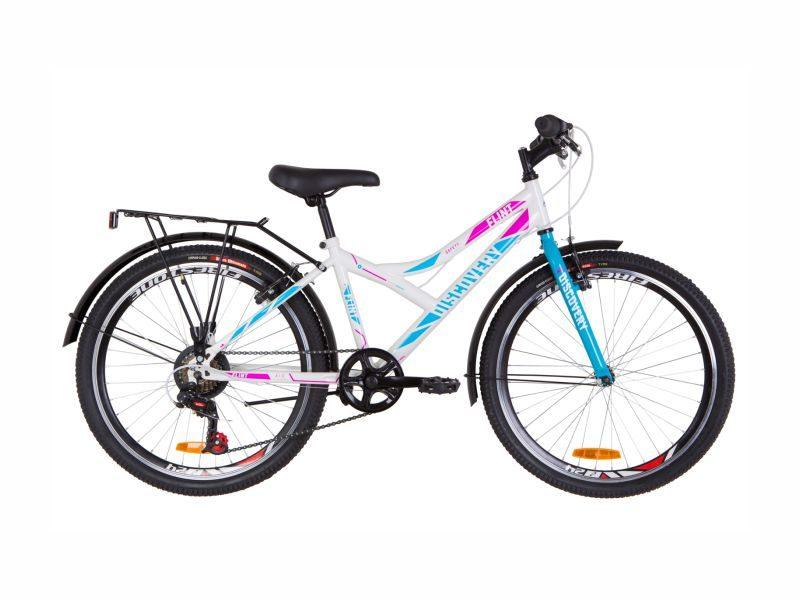 Велосипед Discovery Flint Vbr 24 багажник white-blue
