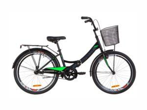 Велосипед Formula Smart 24 корзина black-lime