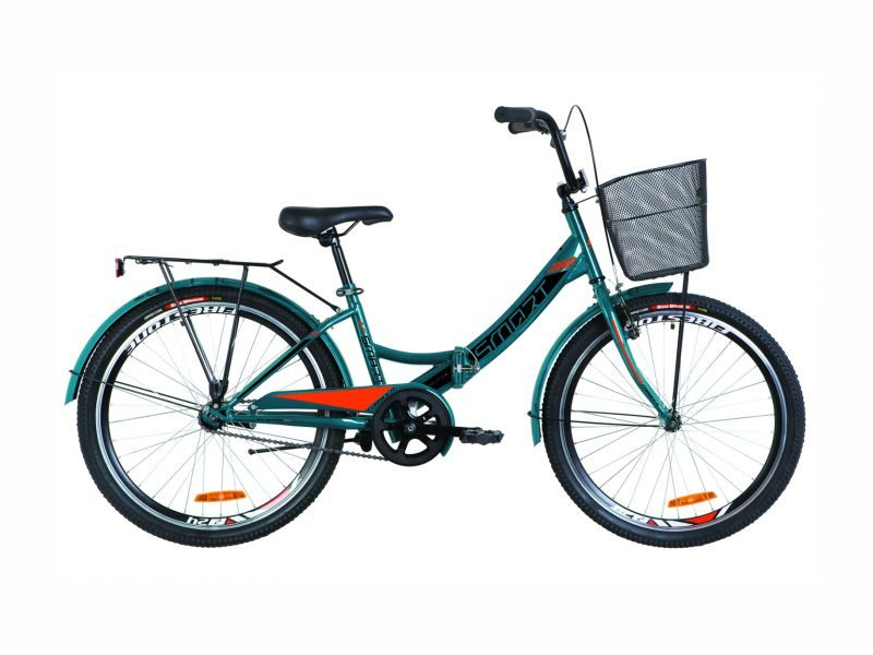 Велосипед Formula Smart 24 корзина blue-orange
