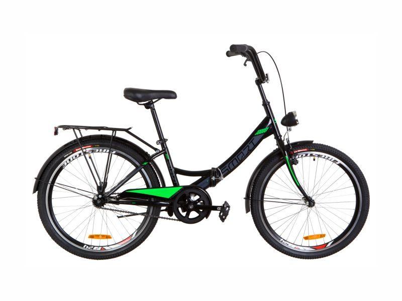 Велосипед Formula Smart 24 с фонарем black-lime