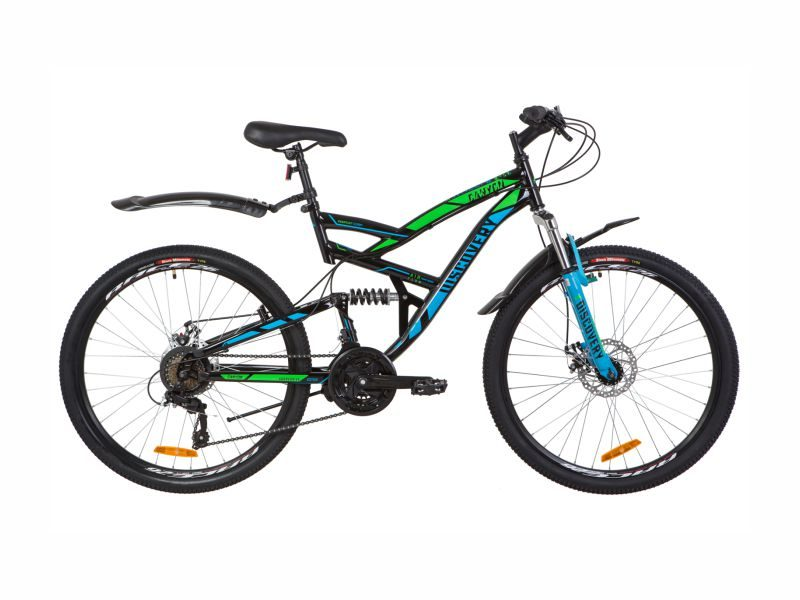 Велосипед Discovery Canyon DD black-blue-green