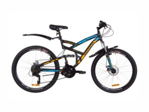 Велосипед Discovery Canyon DD black-blue-orange