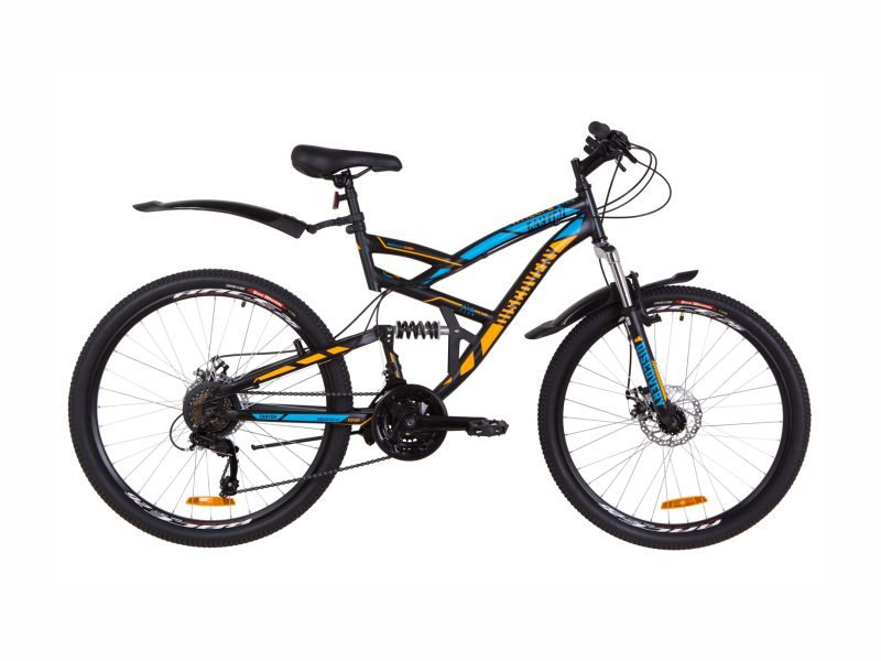 Велосипед Discovery Canyon DD black-blue-orange