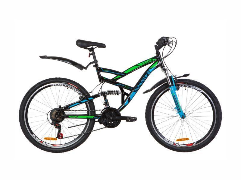 Велосипед Discovery Canyon Vbr black-blue-green