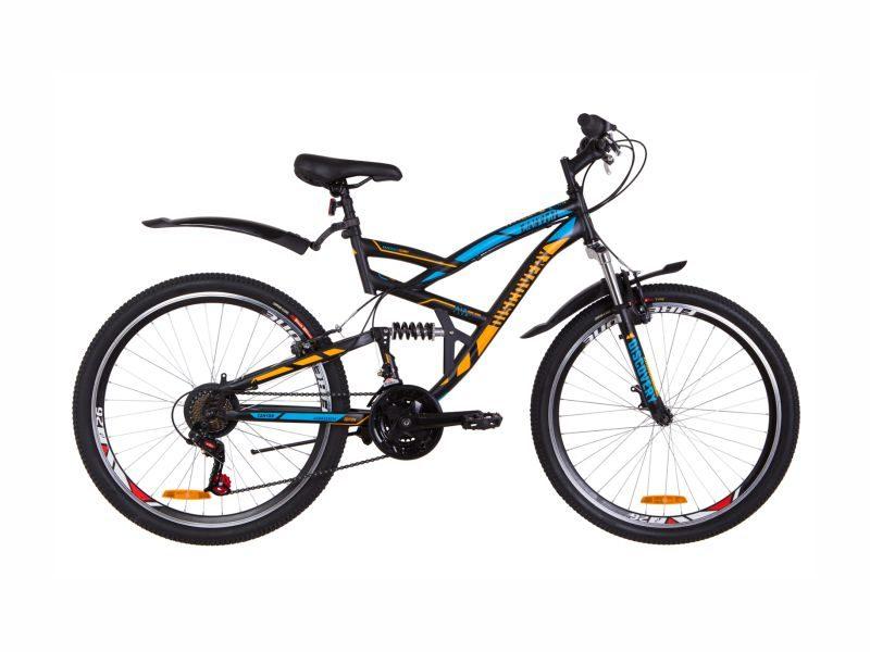 Велосипед Discovery Canyon Vbr black-blue-orange