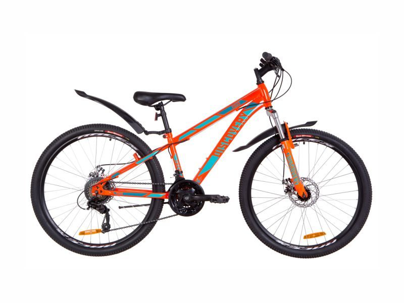 Велосипед Discovery TREK AM DD 13 orange-turquoise