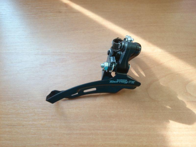 Переключатель передний Shimano Tourney TZ FD-TZ510 Down-Swing, верхняя тяга, хомут 28.6, для 48Т